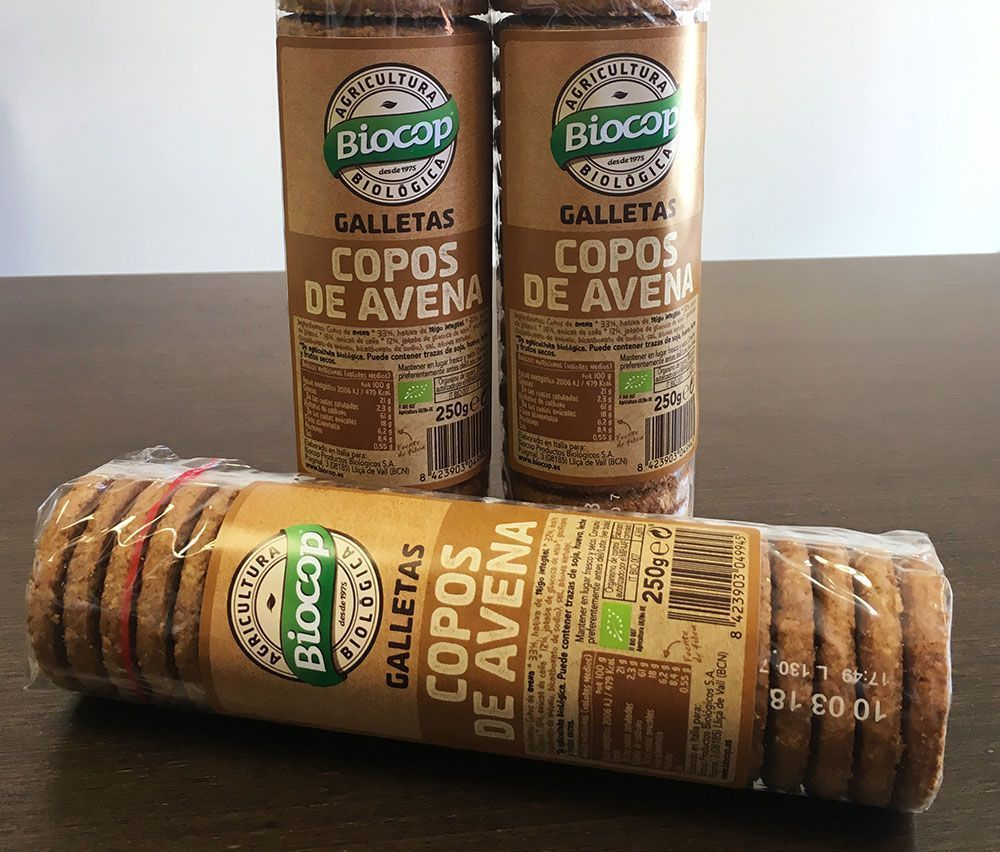 Galletas de copos de avena la alternativa ecol gica de biocop para desayunos y meriendas bio - Copos de avena bruggen ...