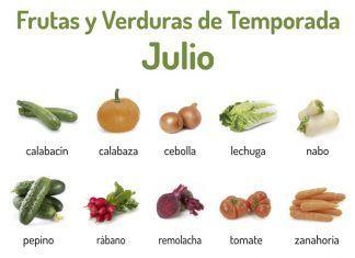 Frutas y verduras de temporada Julio