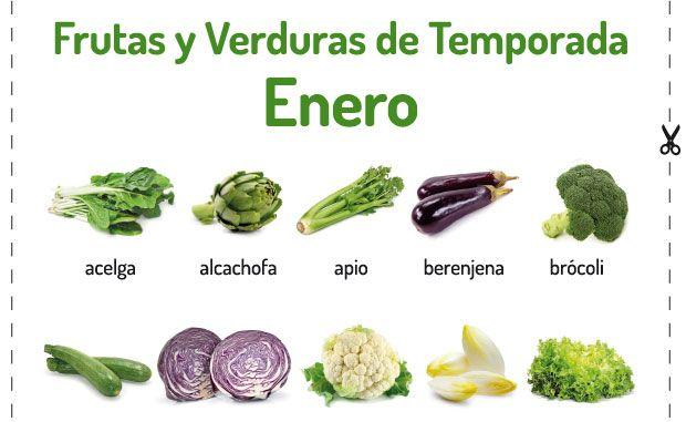 Frutas y verduras de temporada enero