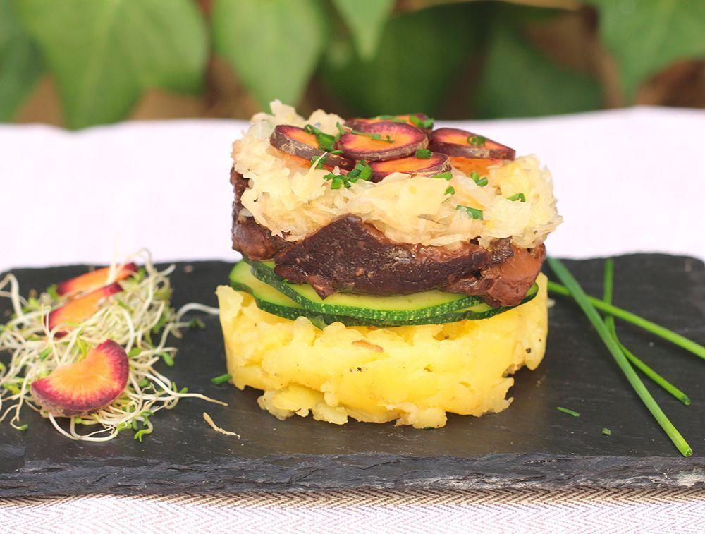 Receta: Timbal de Xiitaque con Patata Pre y Probiótico