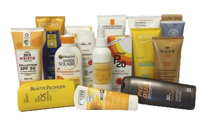 Protectores solares con tóxicos y sin tóxicos