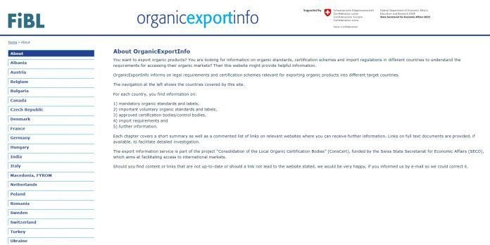 Organic-Export.Info exporter of organic products Import rules for organic products: Great interest in new internet offer