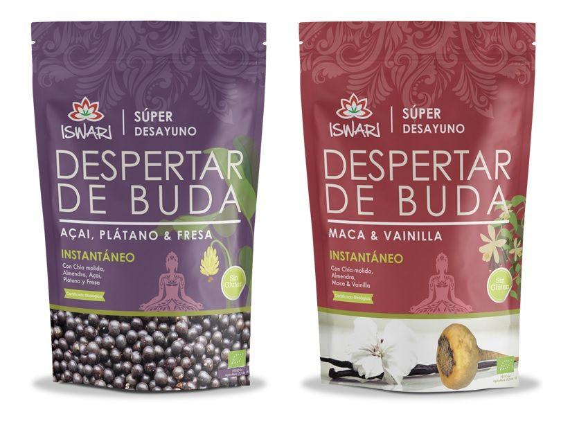 Despertar de Buda Açaí&Plátano y Despertar de Buda Maca&Vainilla superalimentos ecológicos superalimentos veganos