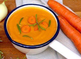 crema de zanahoria crema de pastanaga