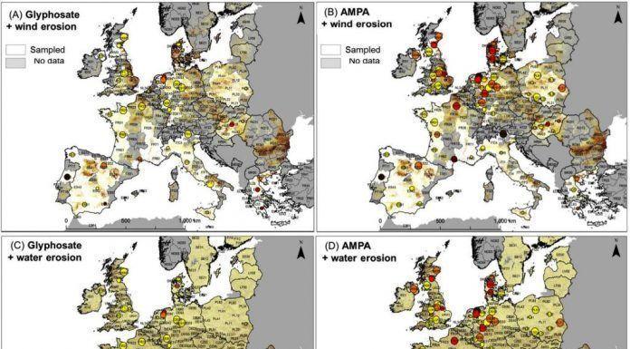glifosato contamina suelos europeos