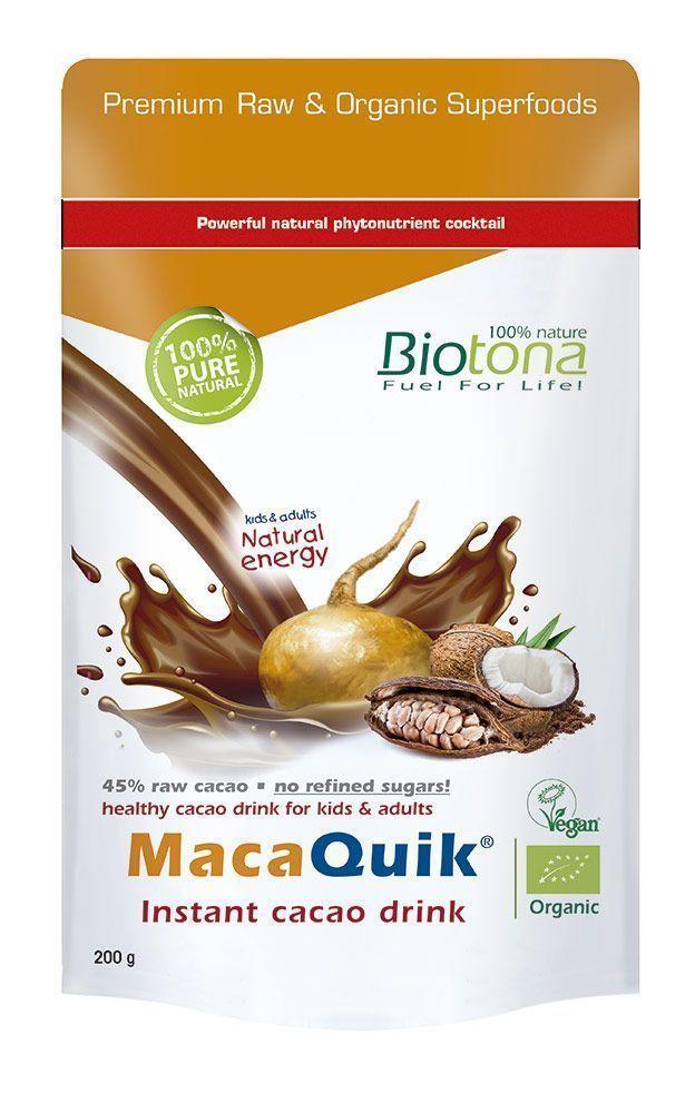 MacaQuik®! 45% de cacao raw ¡sin azúcares refinados!, de Biotona
