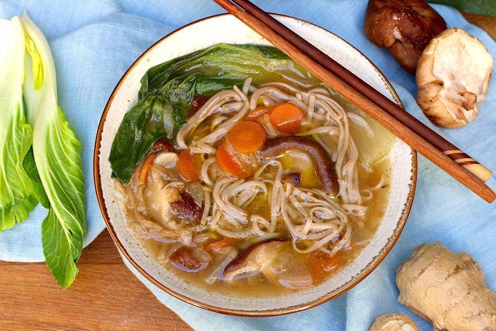 Receta: Caldo Oriental con fideos Soba