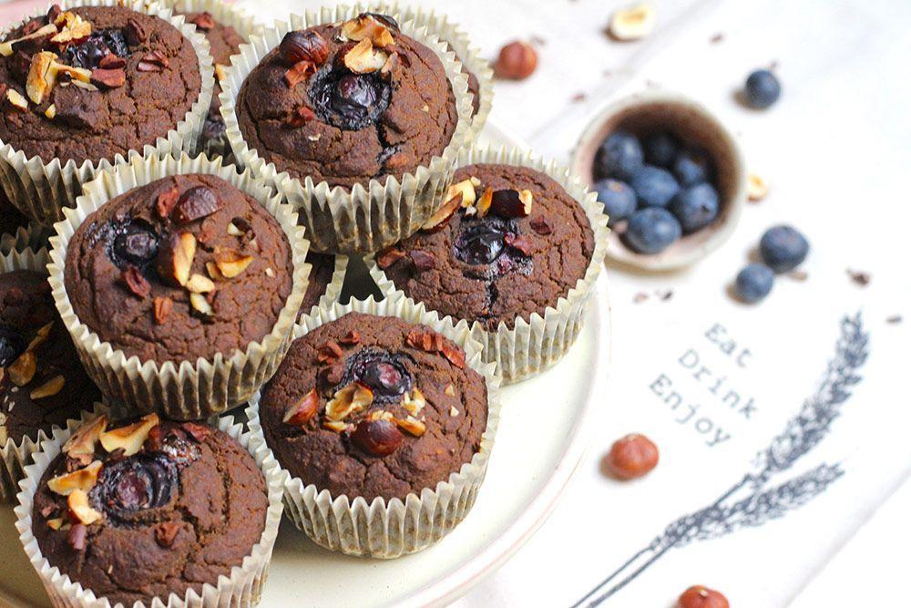 Muffins de Calabacín, Chirivía y Cacao
