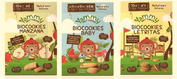 Galletas ecológicas para bebés yammy