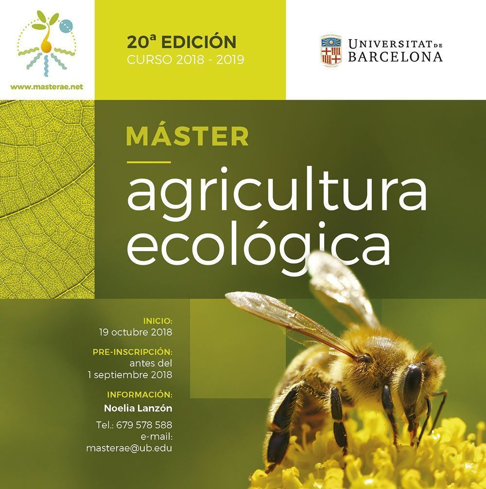Máster de Agricultura Ecológica UB - Màster d'Agricultura Ecològica UB màster d'agricultura ecològica