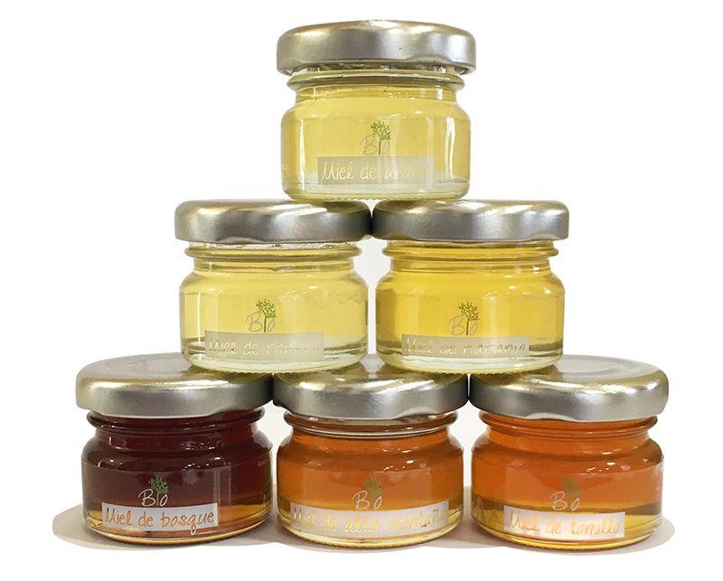 Tarritos mono dosis de miel ecológica de Muria Bio