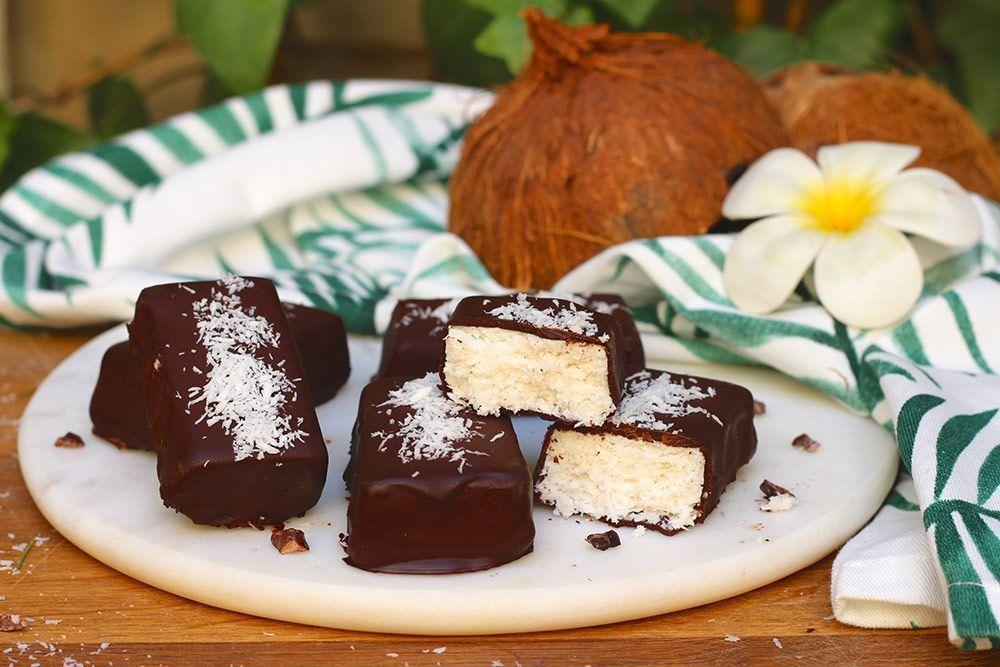 Barritas Heladas Veganas de Coco
