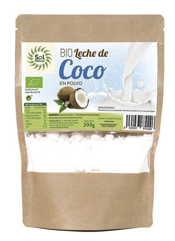 Nueva Leche de Coco en Polvo de Sol Natural