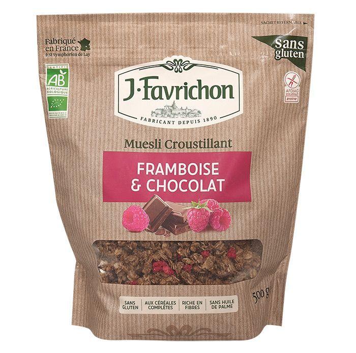 Muesli Crujiente de Frambuesa y Chocolate, de J.Favrichon