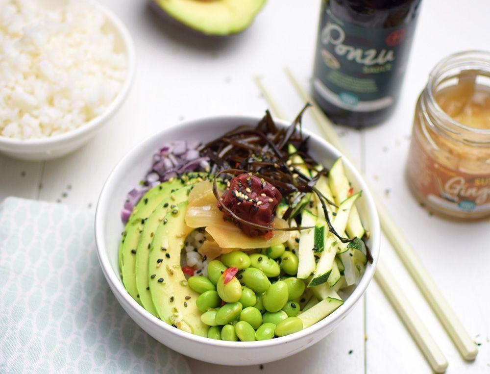 Poké bowl japonés con verduras (¡Vegano!)
