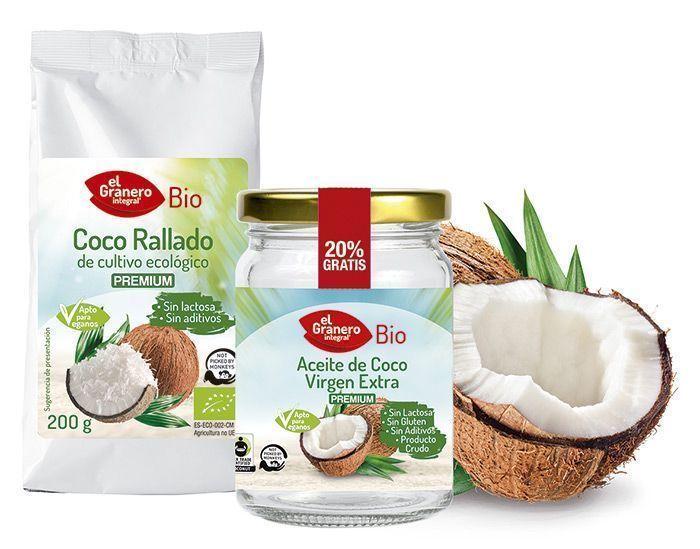 Nueva línea de Coco 100%, Bio Calidad Premium, de El Granero Integral