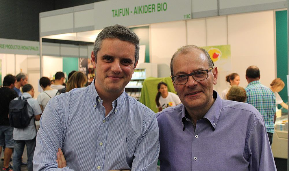 Javier Rees (Rees Exports Consulting) y Jordi Llort (Amandín) biocultura madrid 2018
