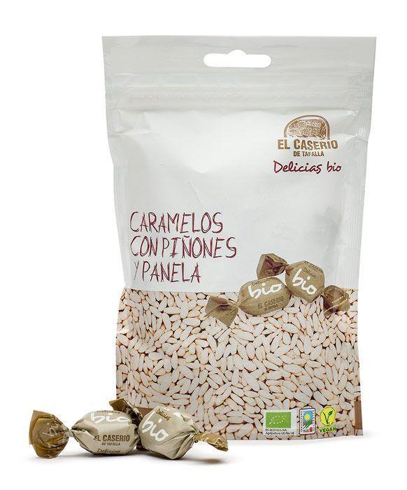 Caramelos ecológicos con piñones y panela, de El Caserío de Tafalla