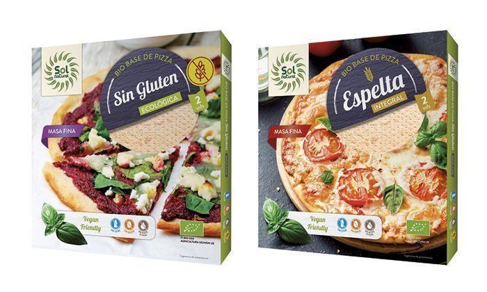 Nuevas Bases de Pizza Ecológicas y Veganas, de Sol Natural