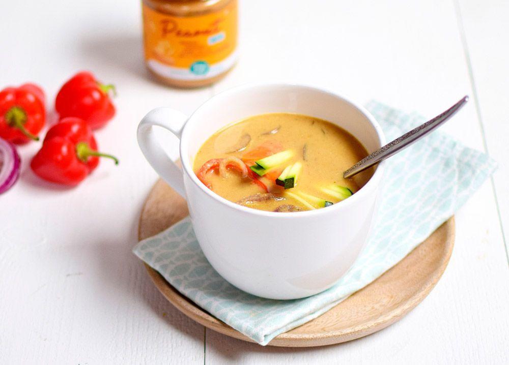 Receta: Sopa oriental de cacahuete