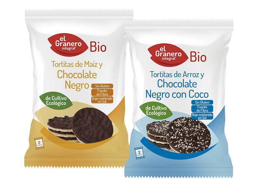 Tortitas Bañadas Individuales Bio, de El Granero Integral
