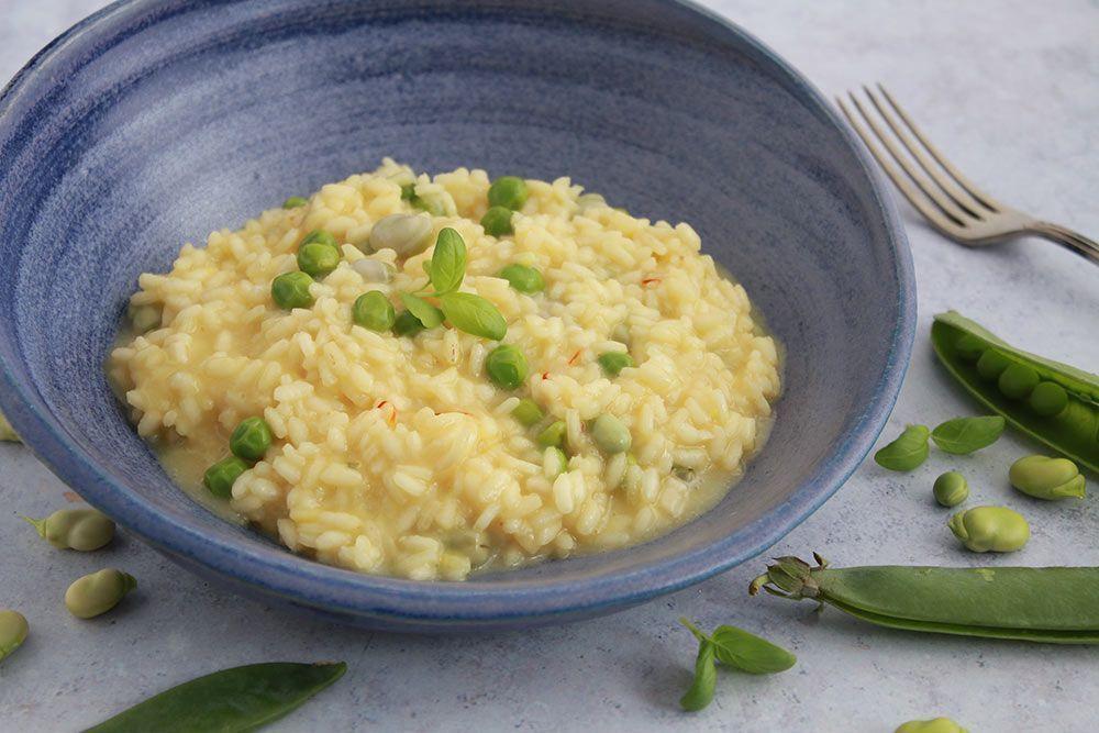 Marzo: Habas y guisantes en la cocina risotto vegetal