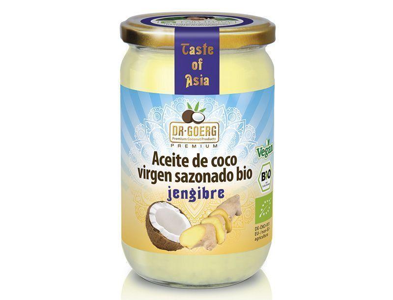 Aceites de Coco Virgen Extra Bio con Especias Premium, de Dr. Goerg