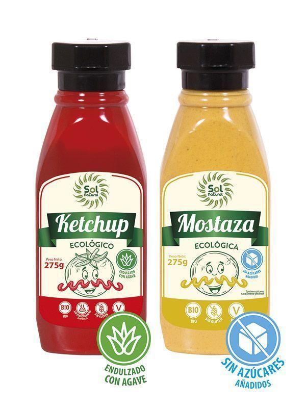 Kétchup y Mostaza sin azúcar, de Sol Natural