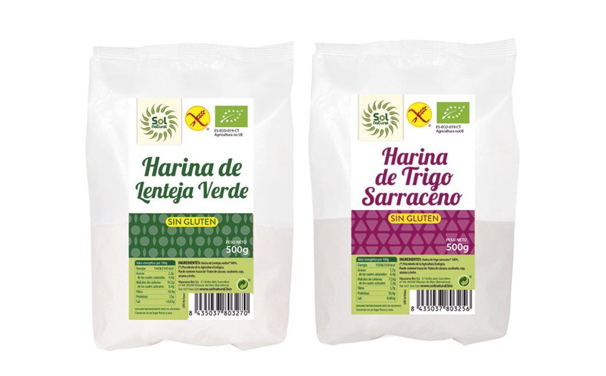 Harinas sin gluten certificadas– Sol Natural