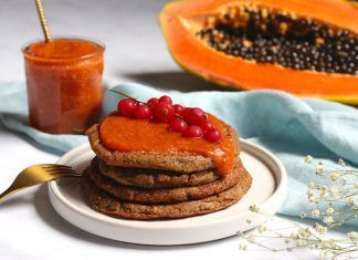 Receta: Pancakes de plátano macho con Mermelada de Papaya recepta pancakes