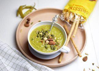 Recepta: Crema verd picant amb pesto (vegana)