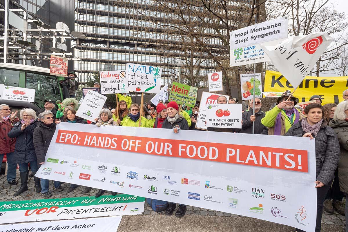 No a las patentes sobre semillas