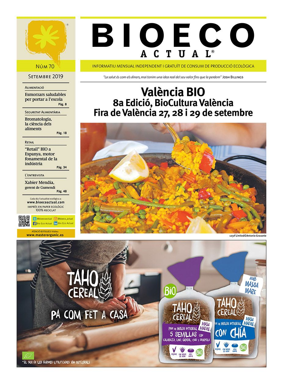 Bio Eco Actual Setembre 2019 Premsa Ecològica Alimentació saludable BIO BioCultura