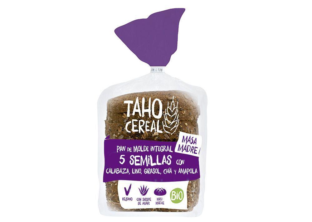 Pa de motlle integral 5 llavors amb massa mare, de Taho Cereal