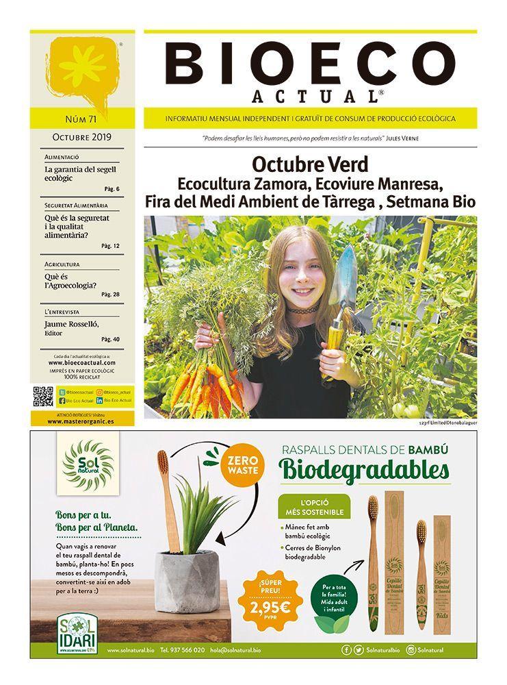 Bio Eco Actual Octubre 2019 Alimentació ecològica medi ambient sobirania alimentaria organic