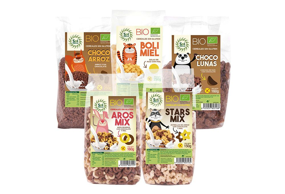 Cereals infantils certificats sense gluten, de Sol Natural