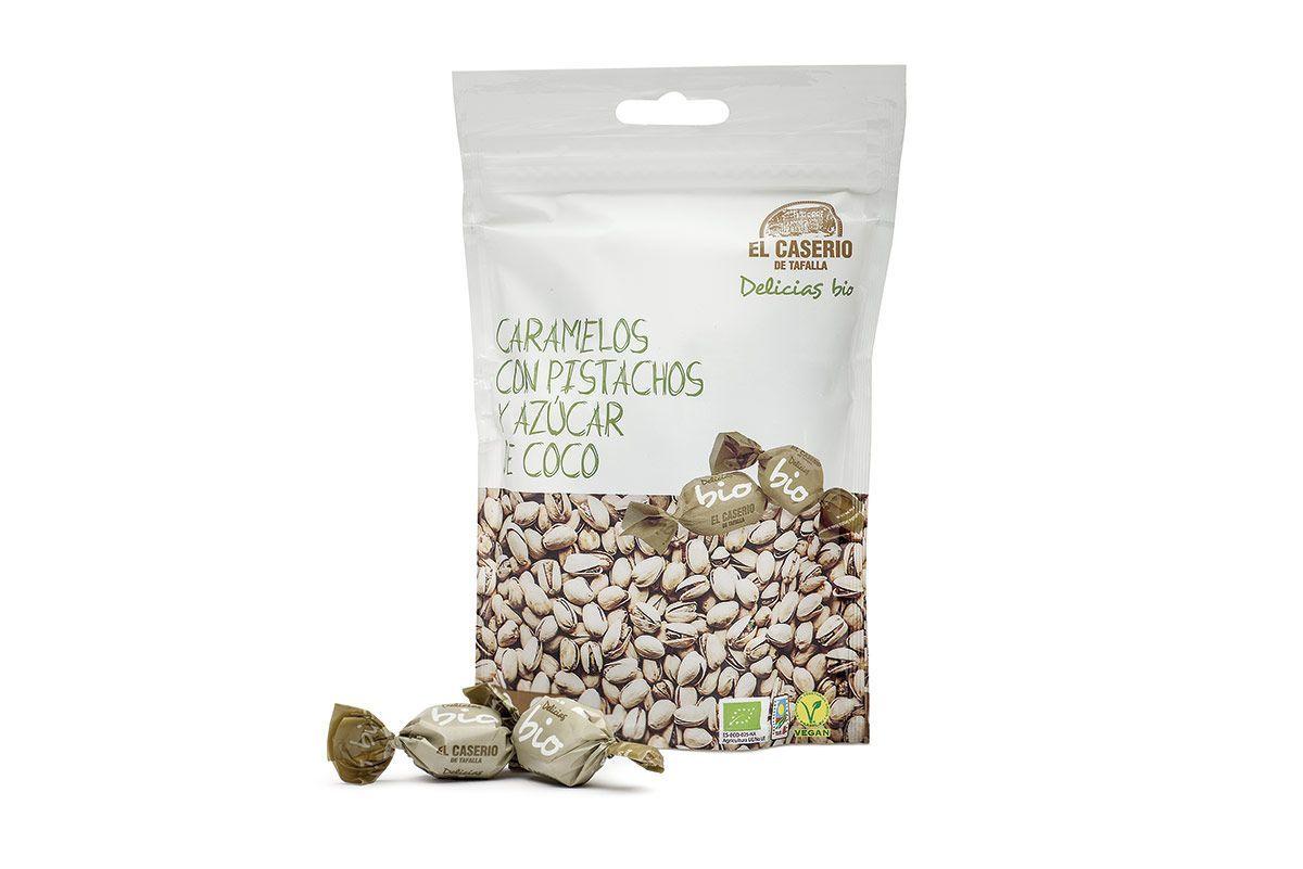 Caramelos con pistachos y azúcar de coco, de El Caserío de Tafalla