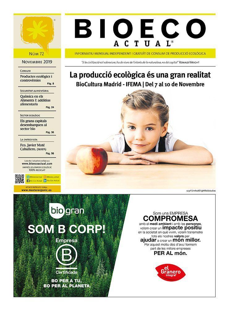 Bio Eco Actual Novembre 2019 Alimentació Ecològica premsa independent en català bio organic saludable