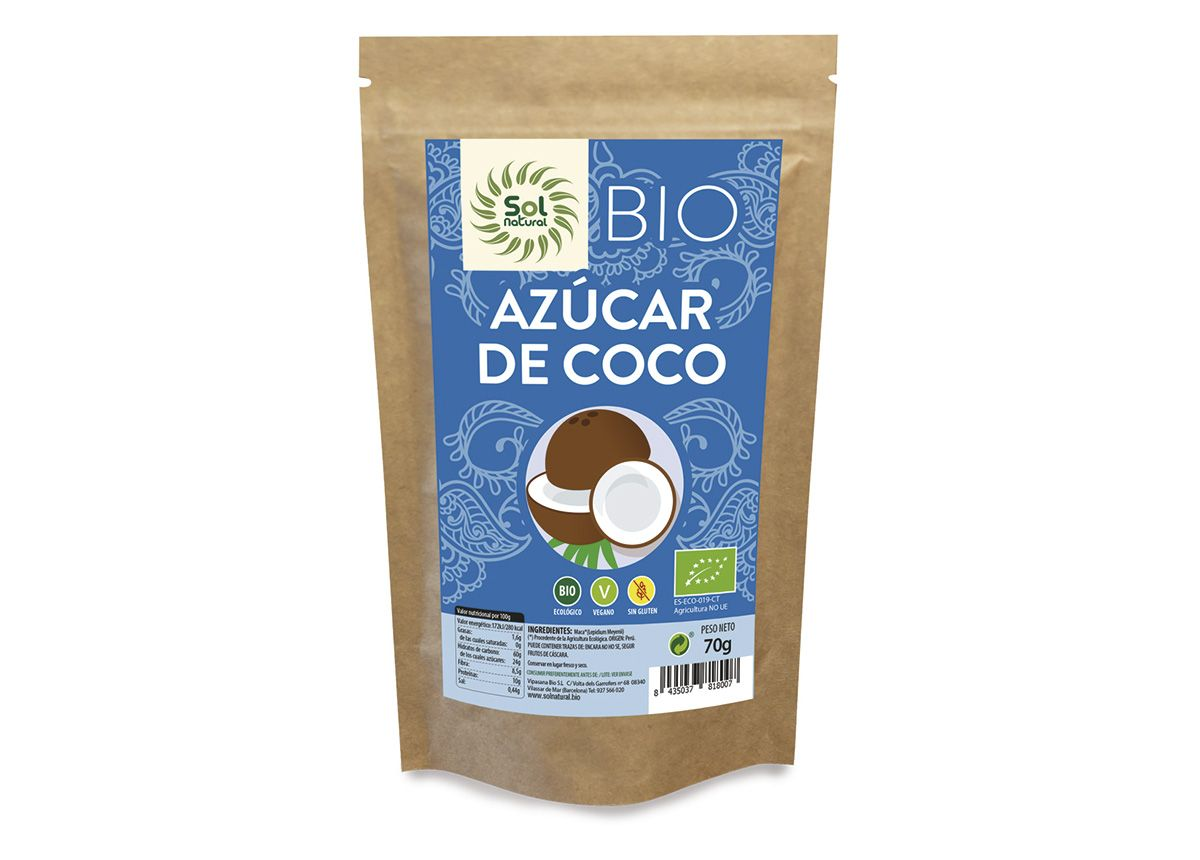 Azúcar de Coco sin gluten, de Sol Natural