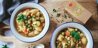 Receta: Estofado de guisantes secos y patatas