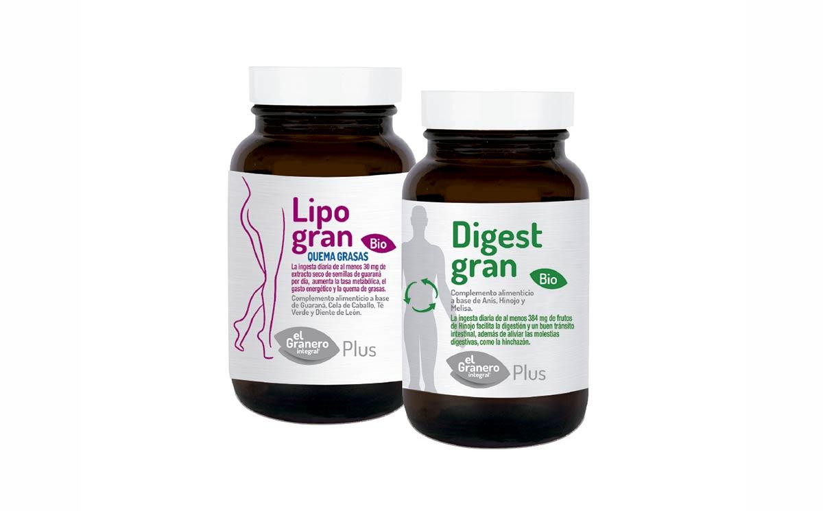 Nuevos Complementos Lipogran y Digestgran Bio, de El Granero Integral