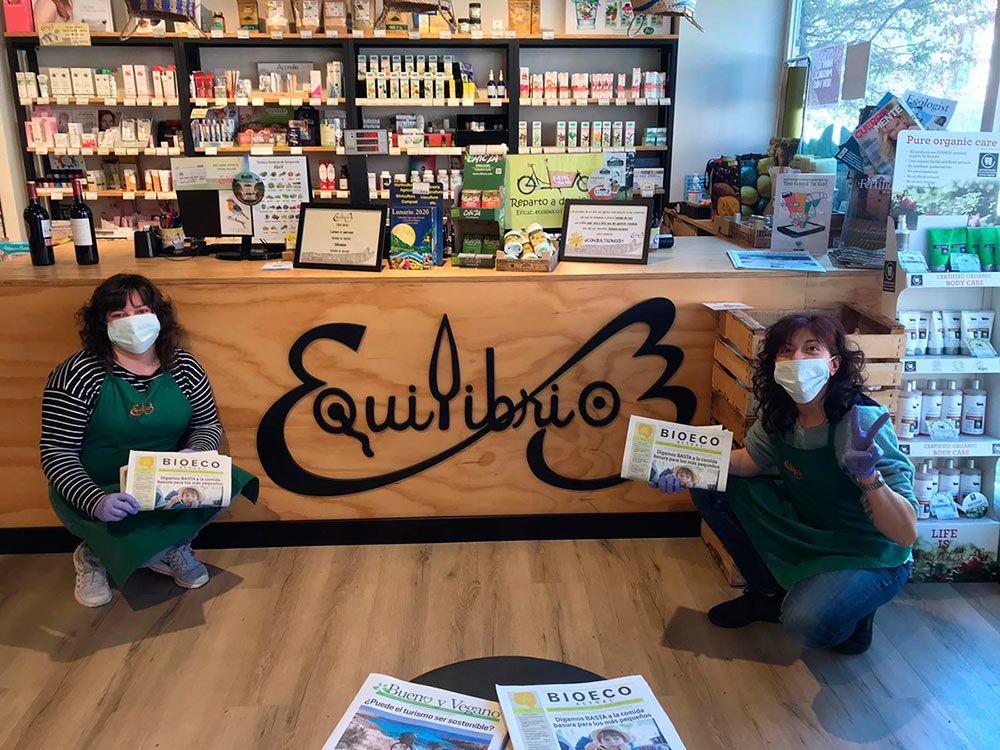 Tienda Equilibrio en Galicia A Coruña Alimentación Ecológica Covid-19 comercio ecológico proximidad