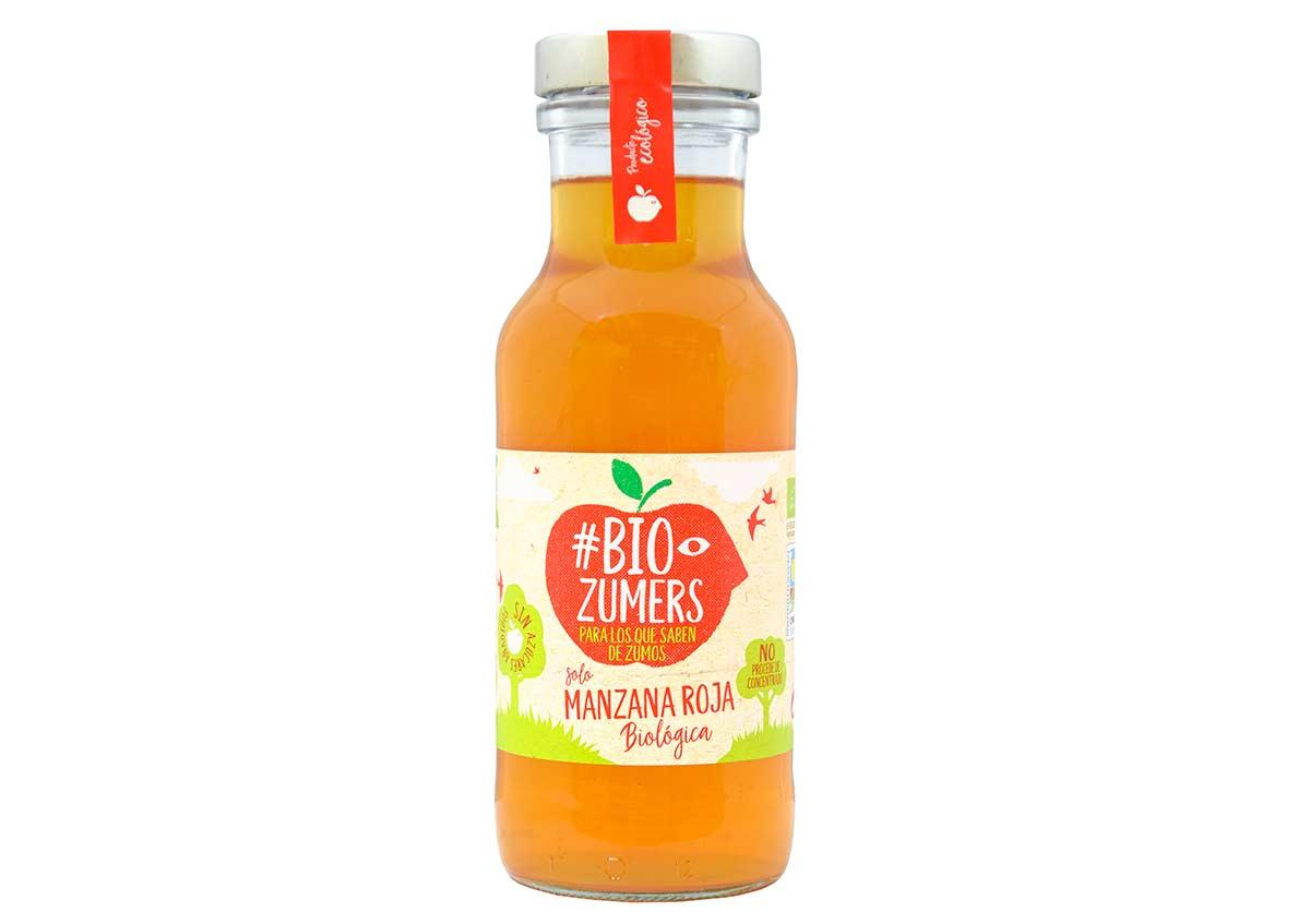 Auténtico zumo de manzana roja biológica, de Bio Zumers