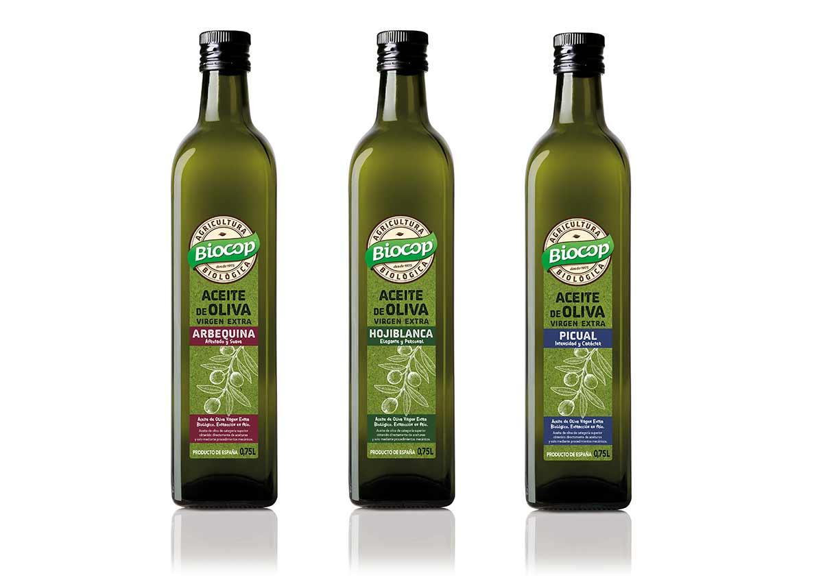 Aceites de oliva virgen extra ecológicos, de Biocop