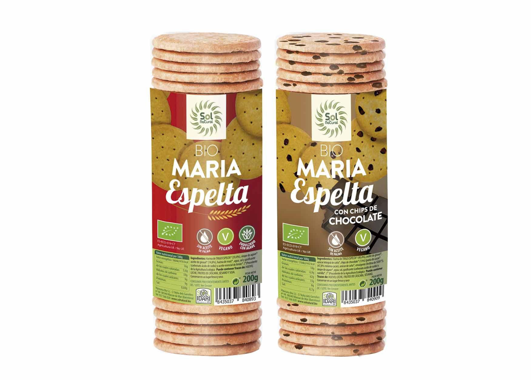 Galletas María de Espelta ¡ahora veganas!, de Sol Natural