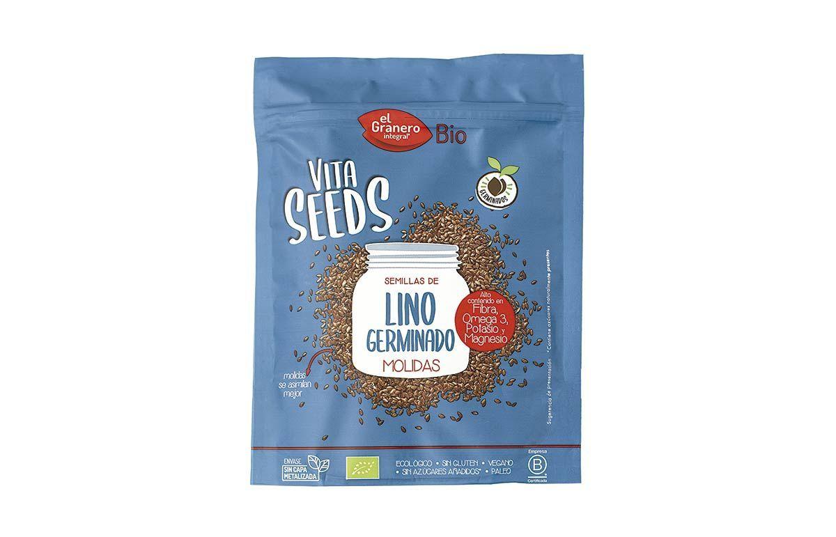 Nueva Vitaseeds semillas de Lino Germinado molidas, de El Granero Integral