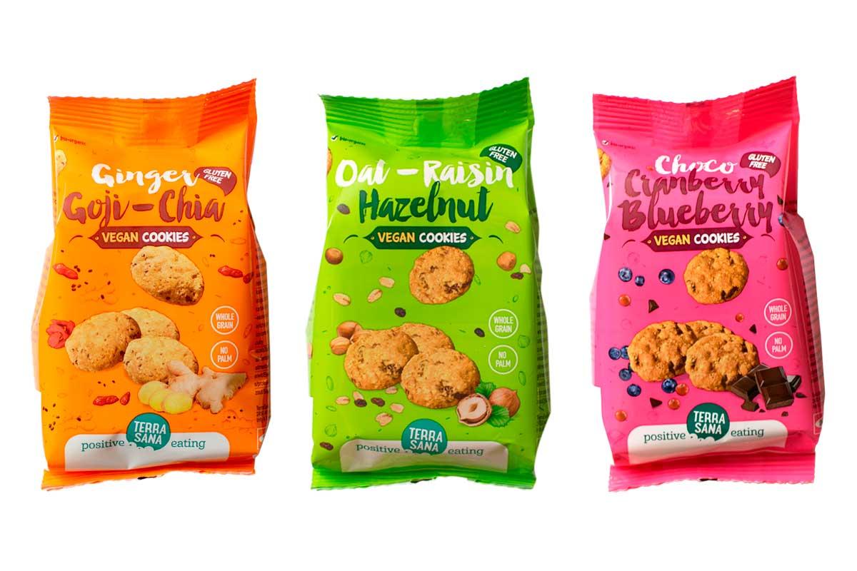 Nuevas irresistibles cookies veganas, de TerraSana