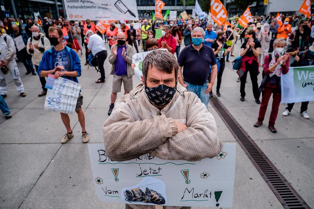 Three days of protest at the EU informal agriculture council in Koblenz (Germany)