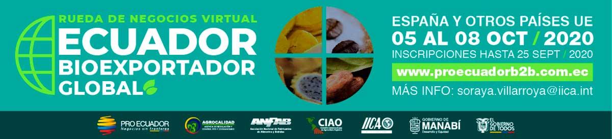 La primera Rueda de Negocios Virtual de productos eco de Ecuador en Europa se celebra en octubre