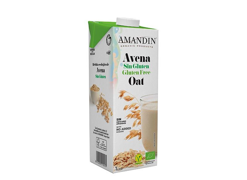 Bebida de avena sin gluten, de Amandín